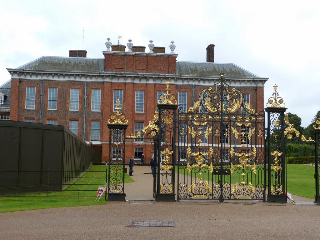 View of Kensington Palace through gate