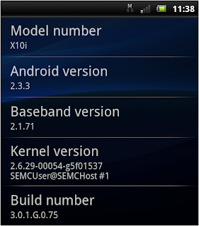 Android Gingerbread 2.3.3 sur Sony Ericsson Xperia x10i - Mise à jour