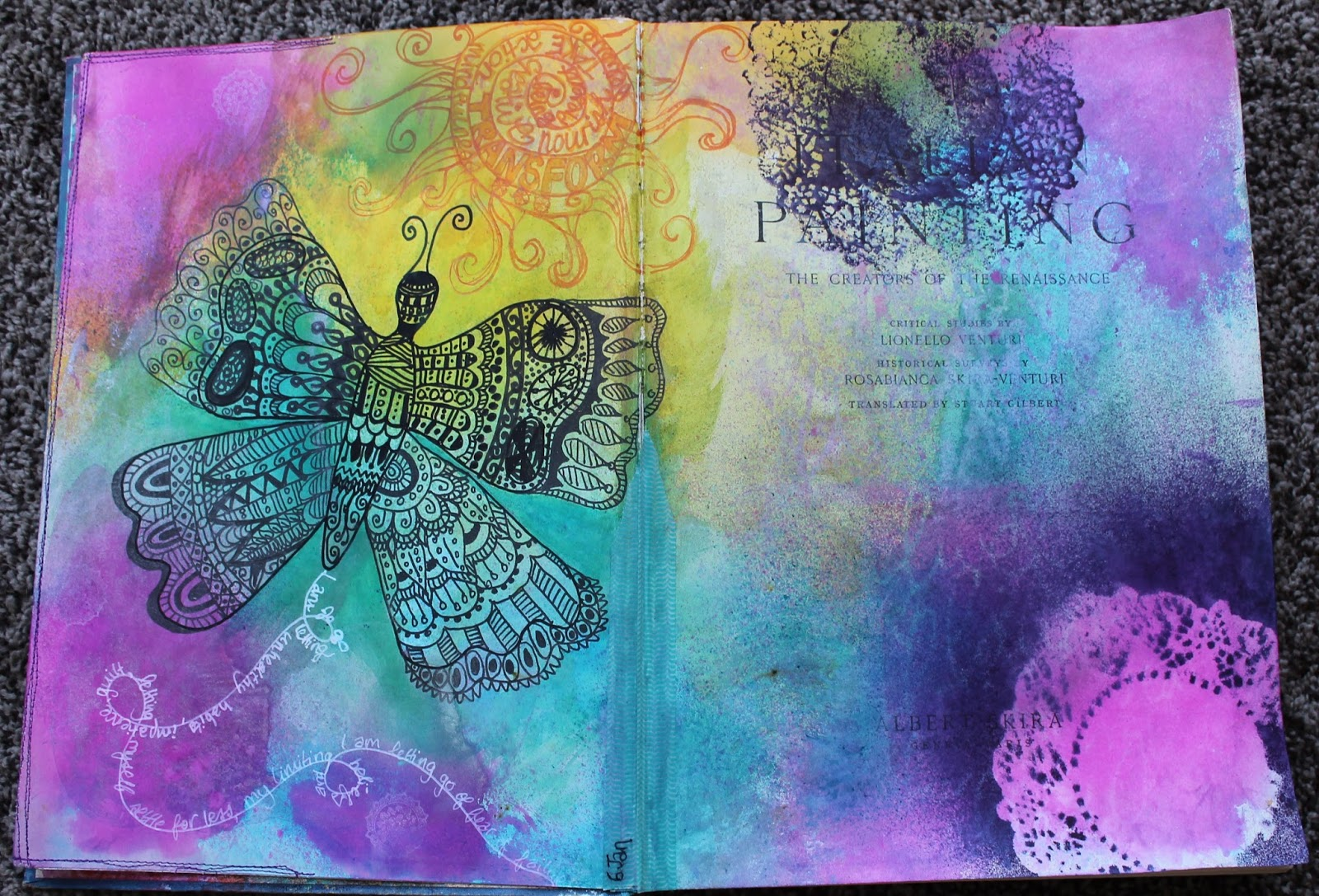 All of me dlp 2016 the unplanner and daily journaling there was a bonus tutorial on painty reinforcers so i had a go at that and we were to create a pocket art card with a 16 on it one of their baditri Image collections