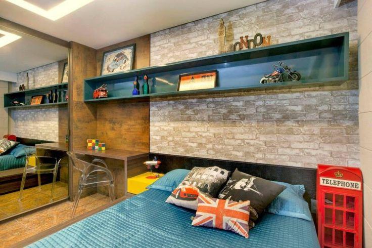 15 Quartos com tijolos à vista ( tijolos aparentes)  Jeito de Casa  Blog de