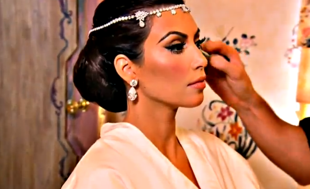 Kim Kardashian 39s wedding Hair makeup All the Details