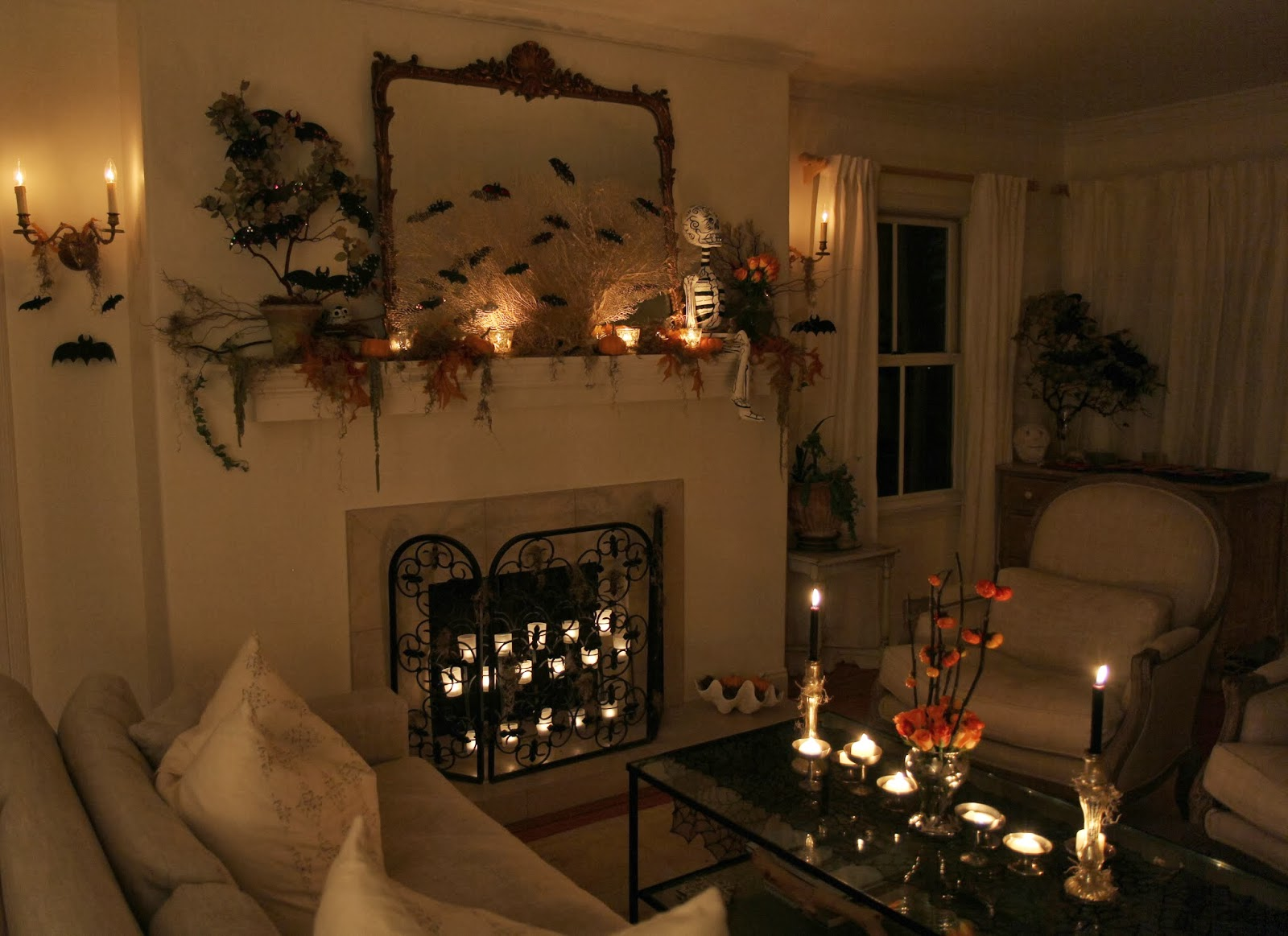 Spooky Glam Halloween Party - Living Room