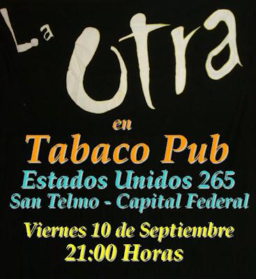 """Buitre y La Otra en """"Tabaco Pub"""""""