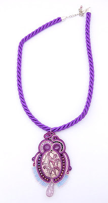 sutasz naszyjnik wisior soutache pendant necklace 19a