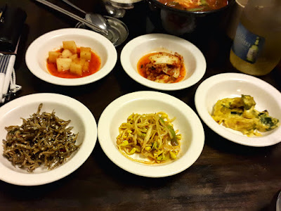 Side Dishes at Dal In Korean Restaurant Singapore