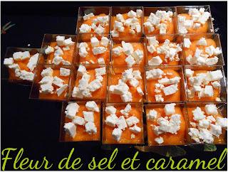 Gaspacho de carottes et feta