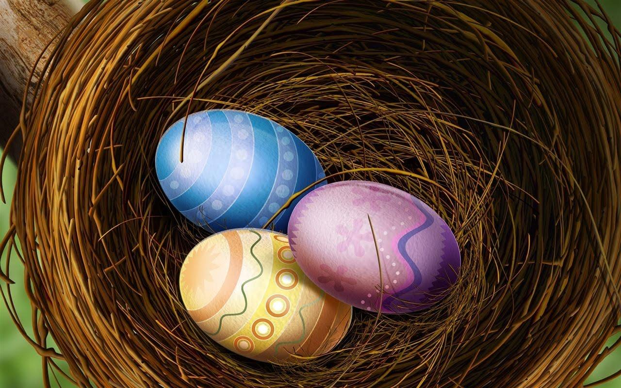 Великденски яйца, HD Wallpaper