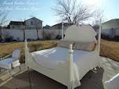 BEAUTIFUL ALL WHITE QUEEN BED. SOLD