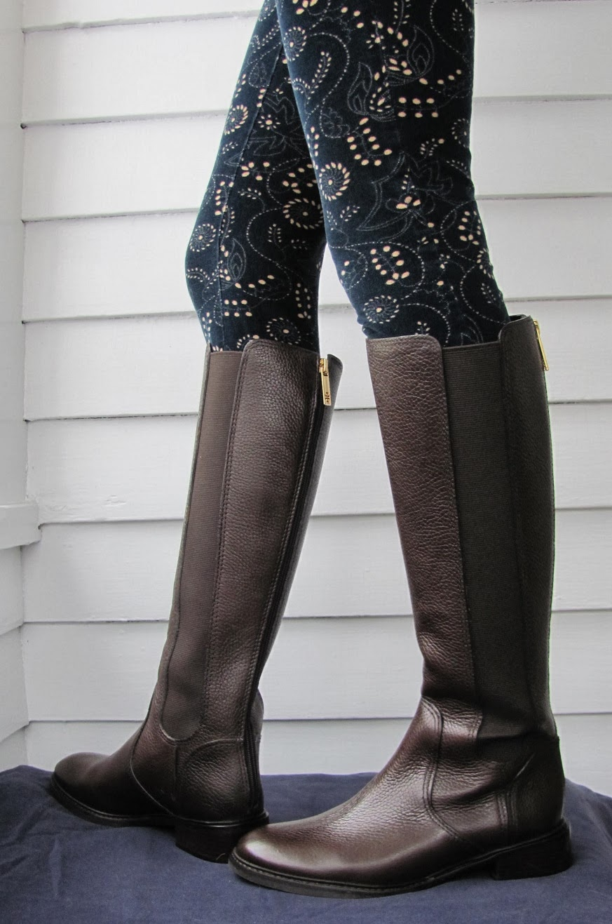 Howdy Slim! Riding Boots for Thin Calves: Tory Burch Christy