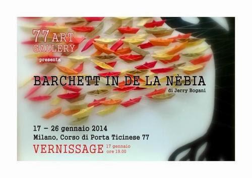 mostre a Milano nel weekend: le barchette di Jerry Bogani al 77 Art Gallery fino a domenica 26 gennaio