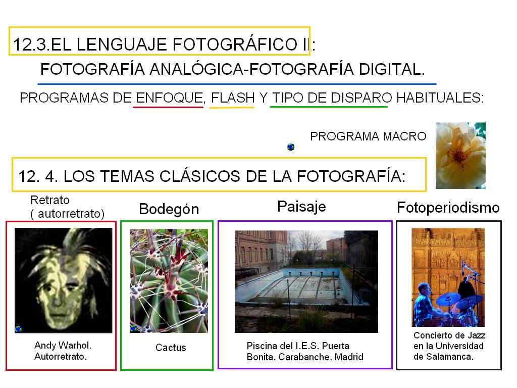 TEMA 12. FOTOGRAFIA E IMAGEN EN MOVIMIENTO | EDUCACIÓN PLÁSTICA Y VISUAL