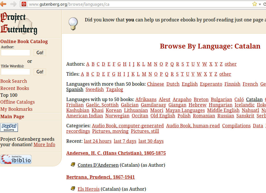 Browse By Language French  Project Gutenberg