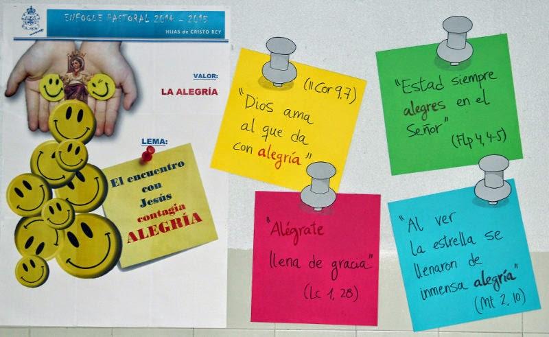 TEMA DE PASTORAL. Curso 2014-2015 - La Alegría