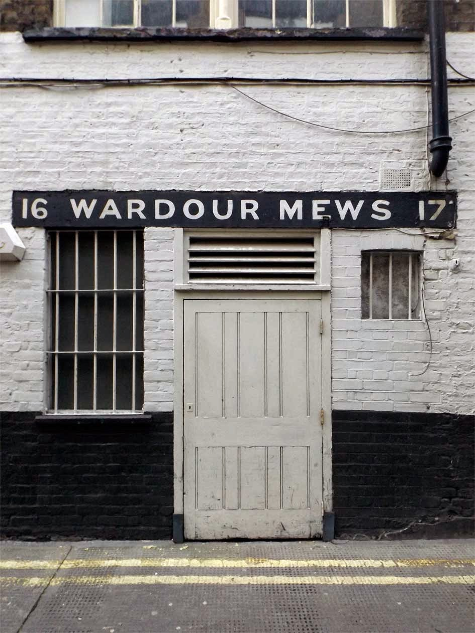 wardour mews painted sign soho