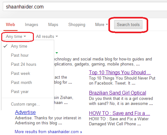 HOW TO : Get Google Search Results for Specific Time Frame