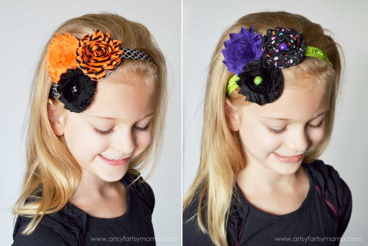 Easy Halloween Headbands at artsyfartsymama.com