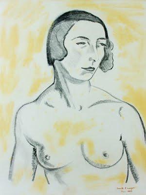 Anita Malfatti. 'Nu'. Carvão e pastel sobre papel. 1924. 58,5 x 46 cm