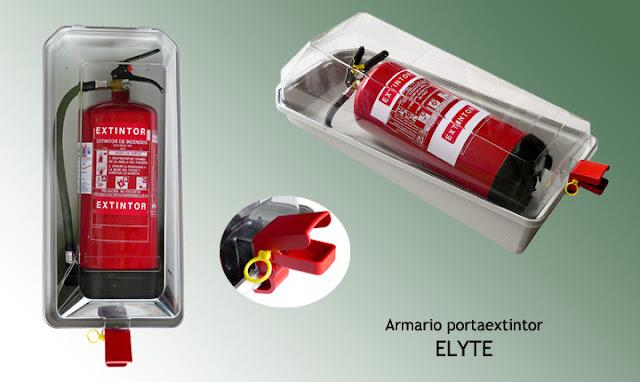Armario portaextintor ELYTE para extintores de 6 y de 9/12 Kgs.
