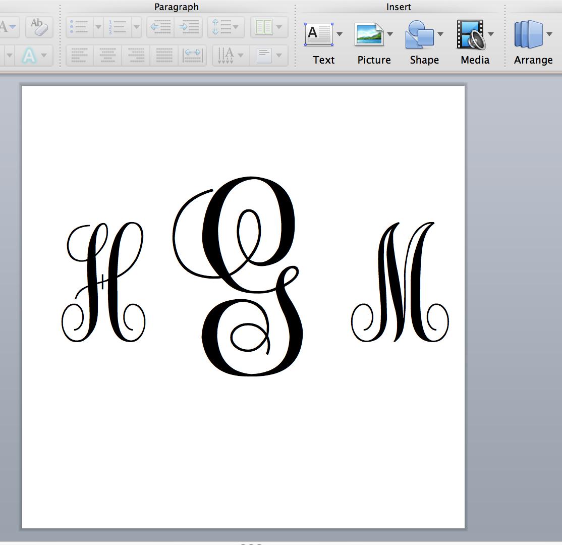 virginia hal: DIY: Make Your Own Monogram