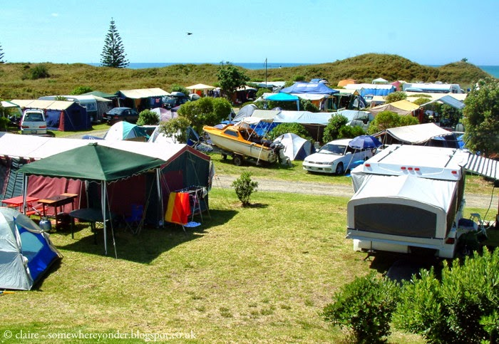 camping at Ohope Beach. New Zealand.