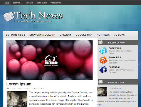 Tech News Blogger Theme