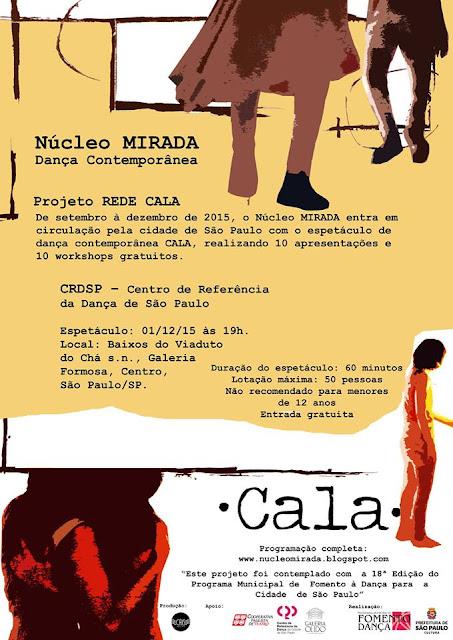 Última apresentação do CALA nessa circulação! Terça-feira, dia 1, no CDR às 19h!