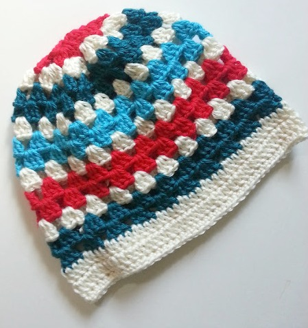 Crochet Hat Pattern For 6 Year Old : by DD Hines: Granny Stripe Beanie