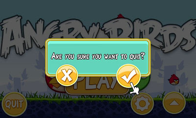 Angry Birds - Closing the game Screenshot