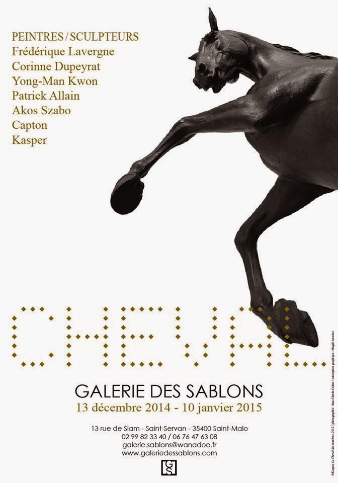 """SAINT-MALO : À LA GALERIE DES SABLONS, EXPOSITION """"CHEVAL"""" PROLONGÉE JUSQU'AU 28 FÉVRIER 2015"""