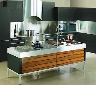 modern kitchen ideas with stainless steel in black