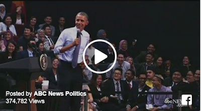 During an interaction with a young TV audience in Malaysia, US president Obama was at his best.  The discussion, which has him commenting on growing old and how other leaders colour their hair, has gone viral.