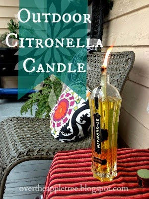 DIY citronella candle, Over The Apple Tree