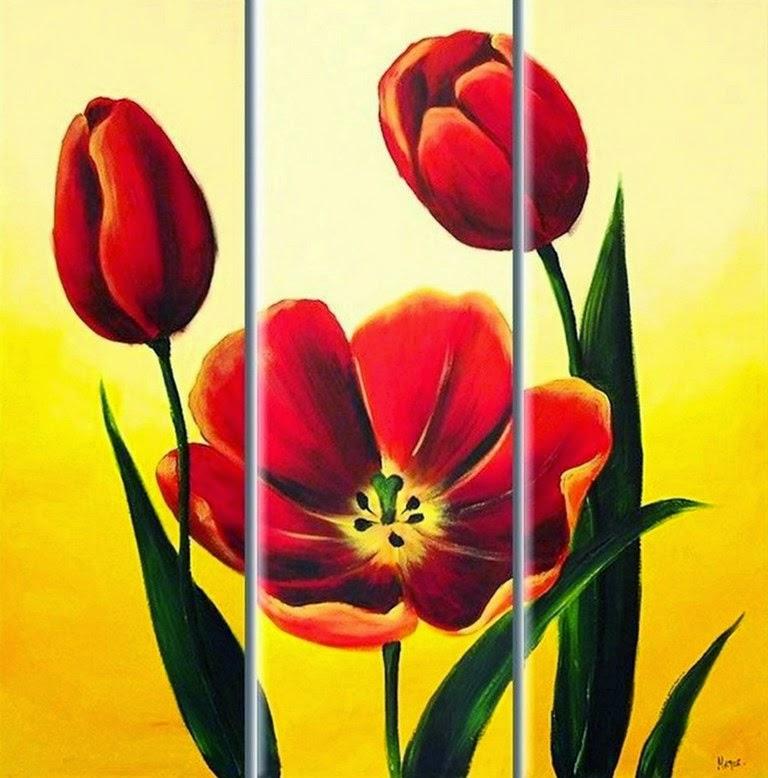 cuadros-tripticos-flores-silvestres