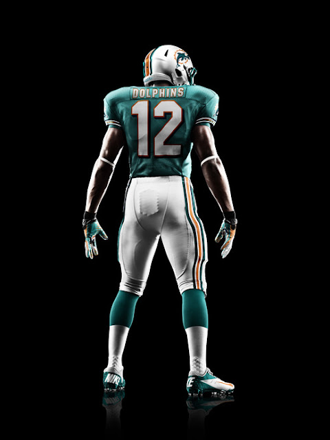 Miami Dolphins 2012 Nike Football Uniform