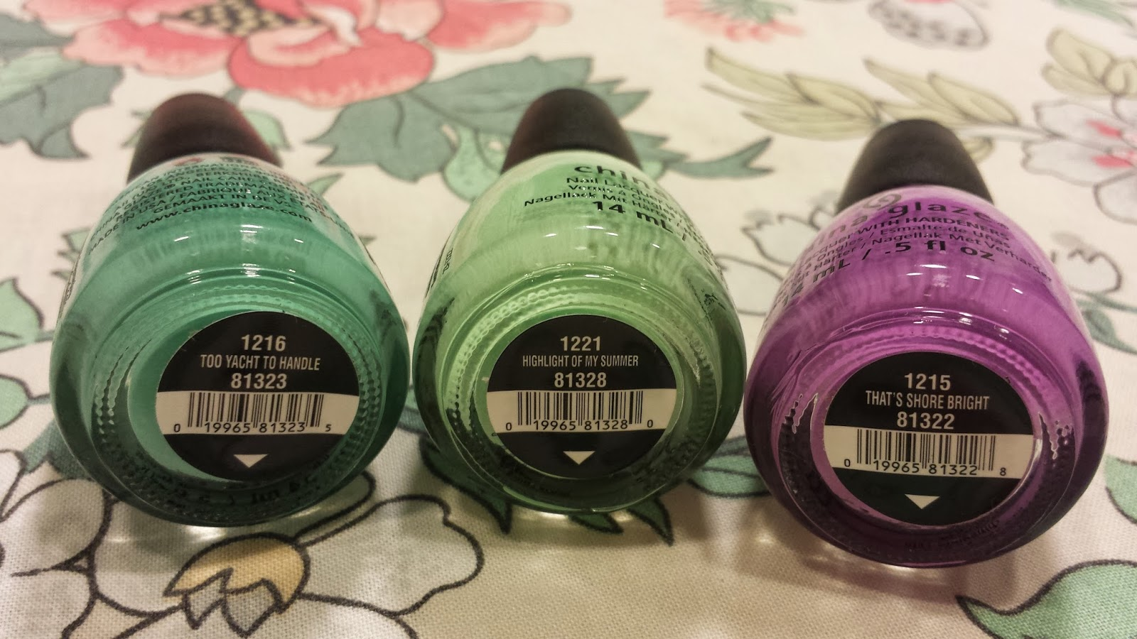 china glaze sunsational cremes