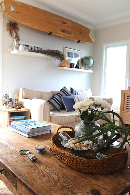 Beach House Decor Styling A Coffee Table