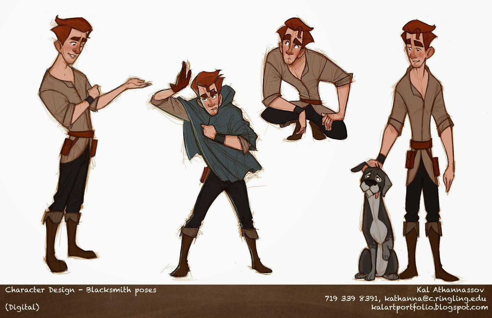 Portfolio Character Design Blacksmith poses