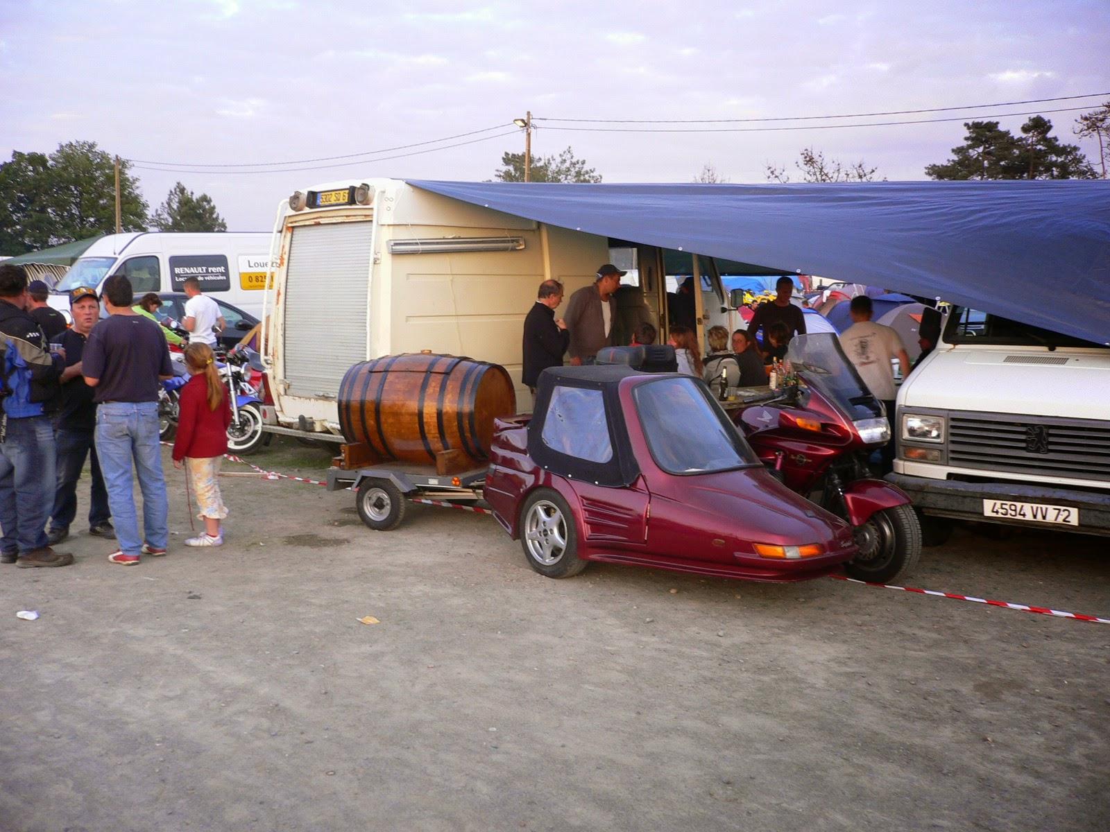 Camping en el circuito de Le Mans