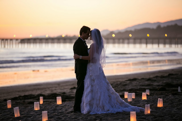 Romantic Santa Barbara Beach Wedding