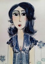 Autoportrait au chemisier bleu