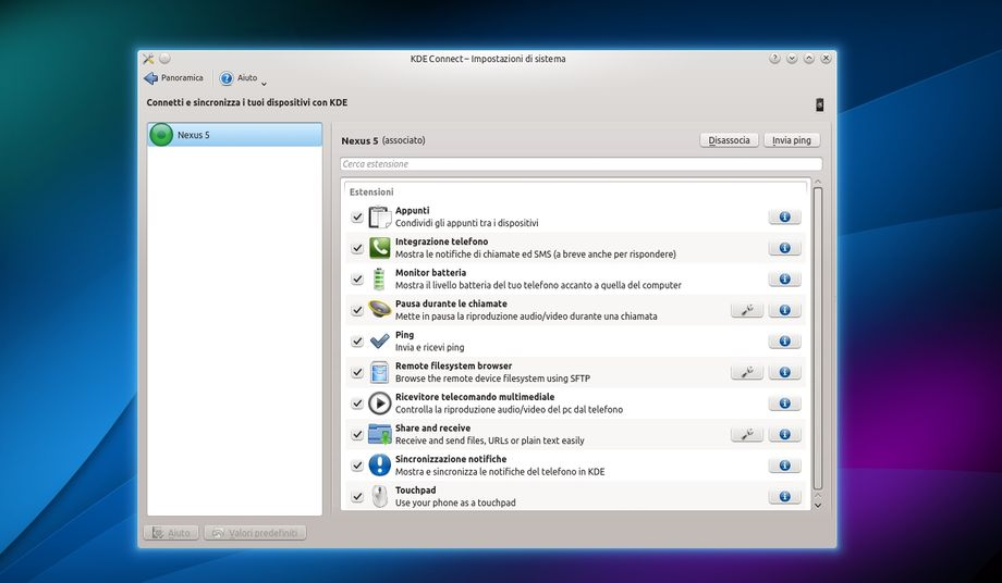 KDE Connect in Kubuntu