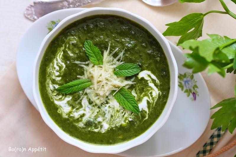 Przepis na zupę szpinakową