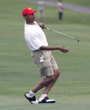 Obama Fake Golfing