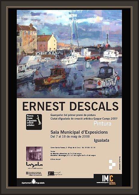 IGUALADA-EXPOSICIONES-EXPOSICIONS-GASPAR CAMPS-PINTURA-ERNEST DESCALS