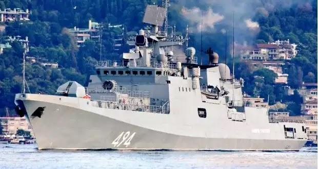Η ρωσική υπερ-φρεγάτα «Admiral Grigorovich» στο Ιόνιο Πέλαγος με τελικό προορισμό…Συρία