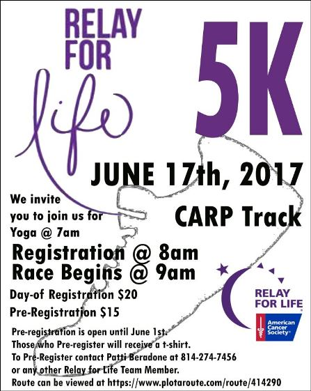 6-17 Relay for Life 5k