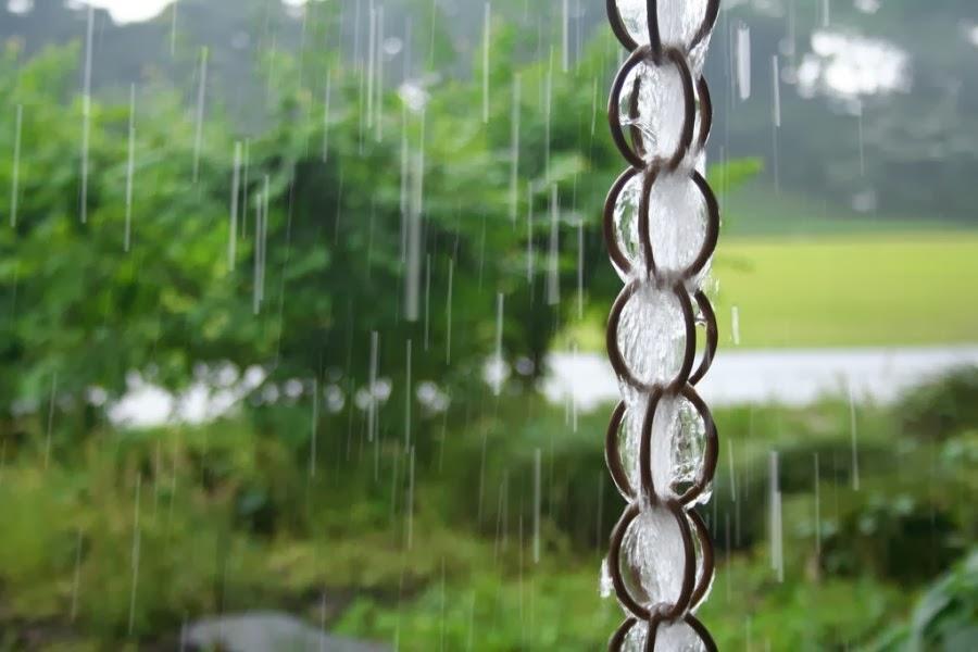 Create a garden rain chain