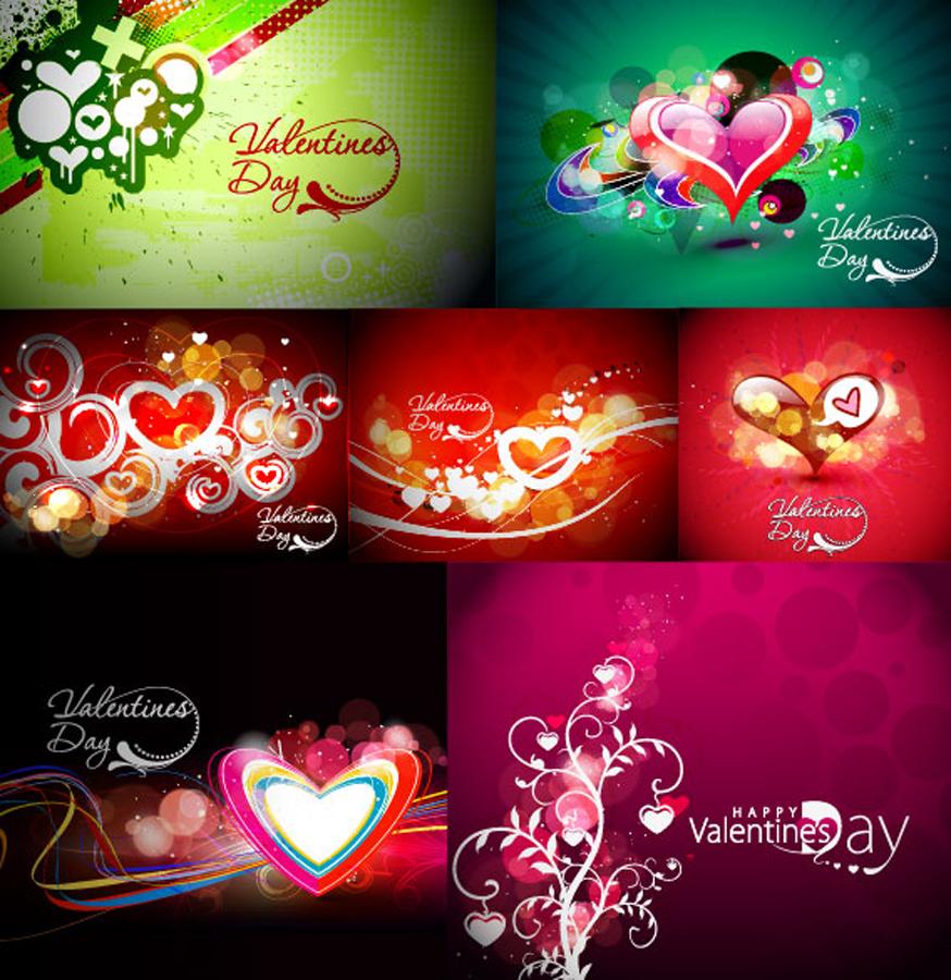 バレンタインデー カード テンプレート romantic Valentines Day card イラスト素材