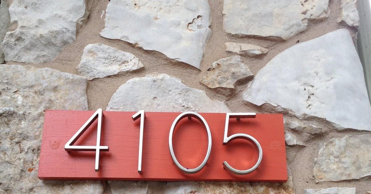 Mad for mid century diy mid century modern house numbers for Mid century modern address numbers