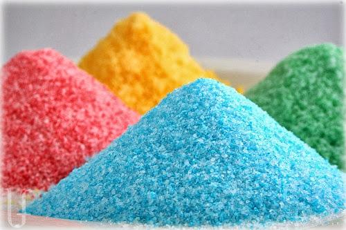 azúcar de colores, manualidades fáciles, manualidades para niños